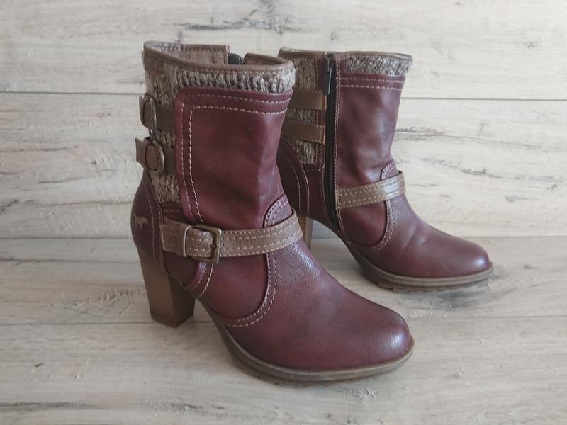 Полусапожки ботинки mustang мустанг 39-40 р 26 см - Фото 2