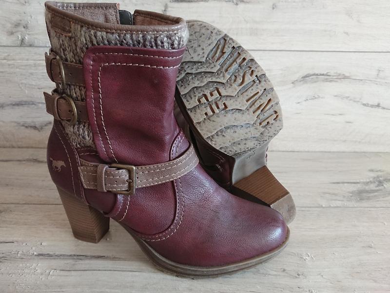 Полусапожки ботинки mustang мустанг 39-40 р 26 см - Фото 3