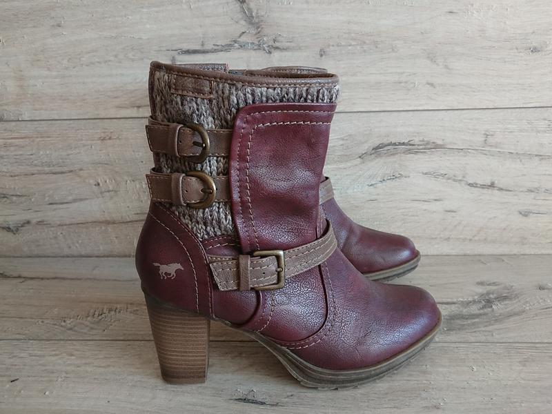 Полусапожки ботинки mustang мустанг 39-40 р 26 см - Фото 4
