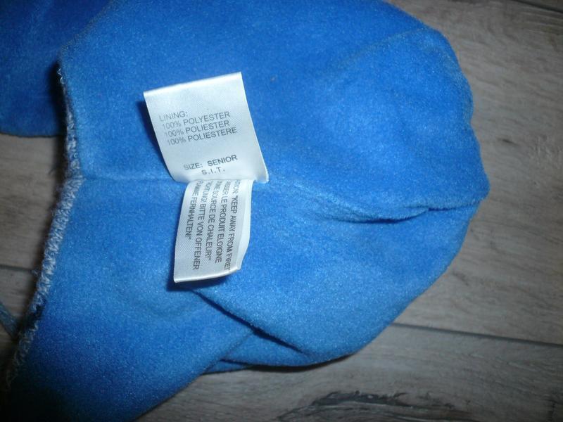 Зимняя шапка на флисе  4-6 лет 50 -51 см  помпон завязки в идеале - Фото 2