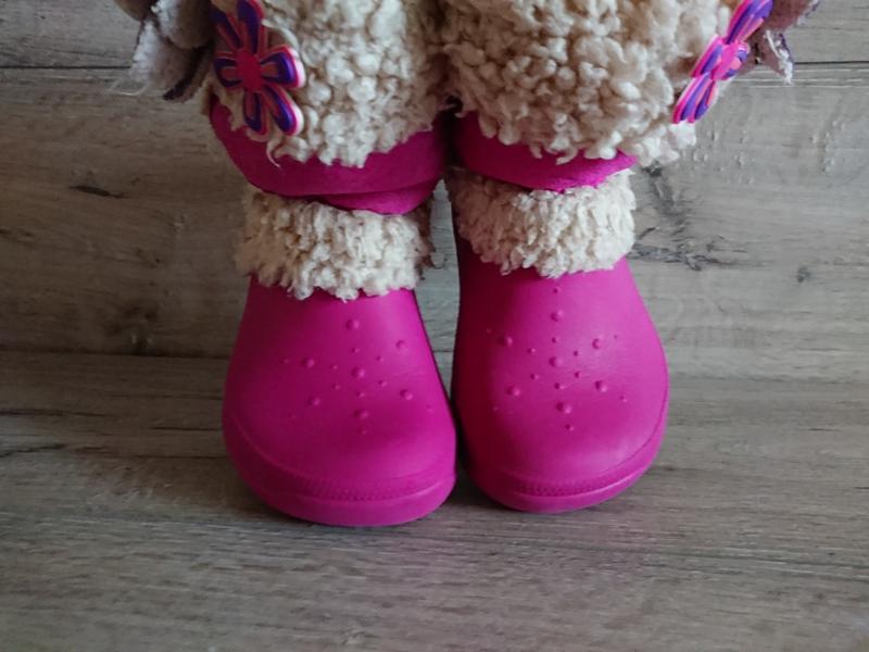 Сапоги крокс crocs nadia boots c 12-13 р стелька 19 см 29-30 р - Фото 3