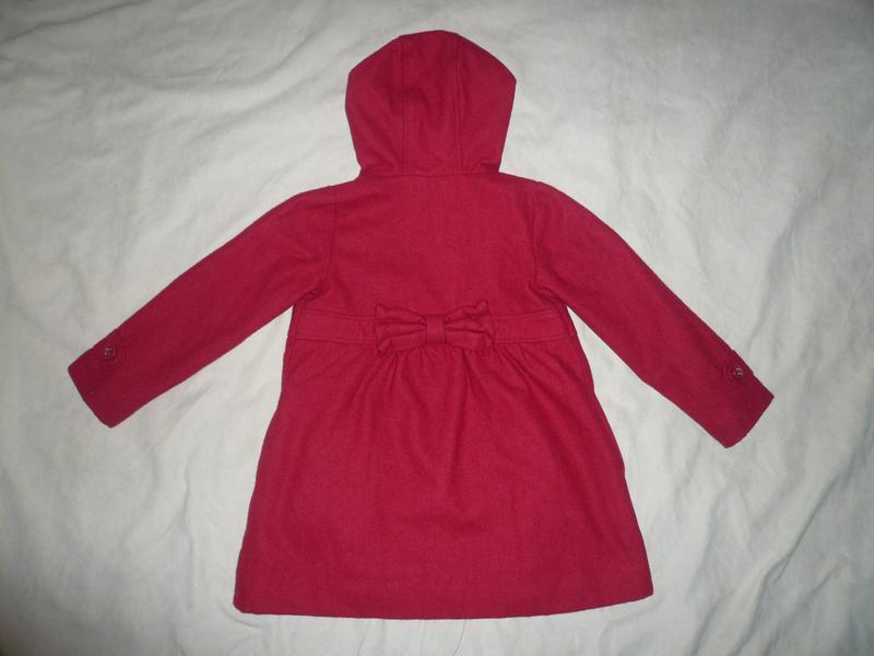 Красивое классическое пальто пальтишко шерсть vertbaudet 4-6 лет - Фото 4