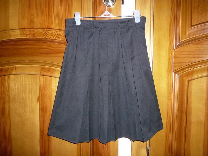 Юбка школьная джордж 9-10 лет 134-140 см - Фото 2