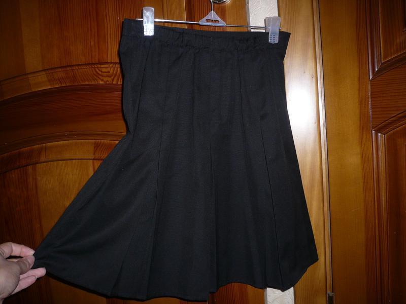 Юбка школьная джордж 9-10 лет 134-140 см - Фото 4
