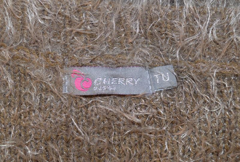 """Брендовый коричневый теплый кардиган накидка с карманами """"трав... - Фото 4"""