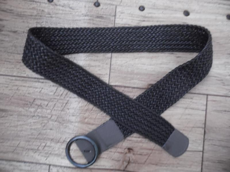 Ремень «плетенка» текстиль, коричневого цвета