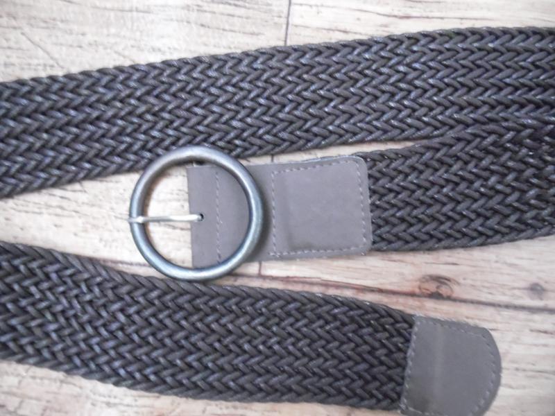 Ремень «плетенка» текстиль, коричневого цвета - Фото 3