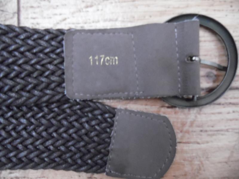 Ремень «плетенка» текстиль, коричневого цвета - Фото 4