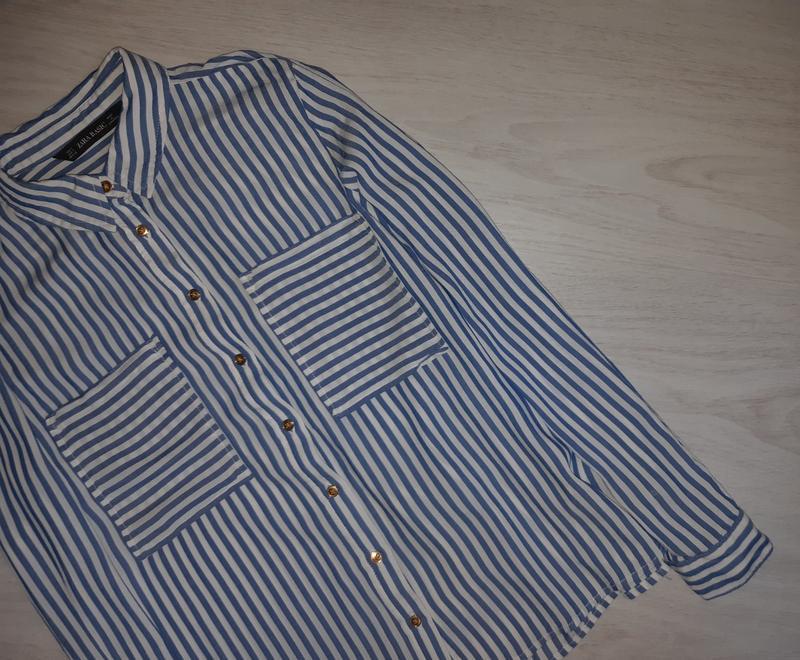Рубашка zara basic оригинал - Фото 3