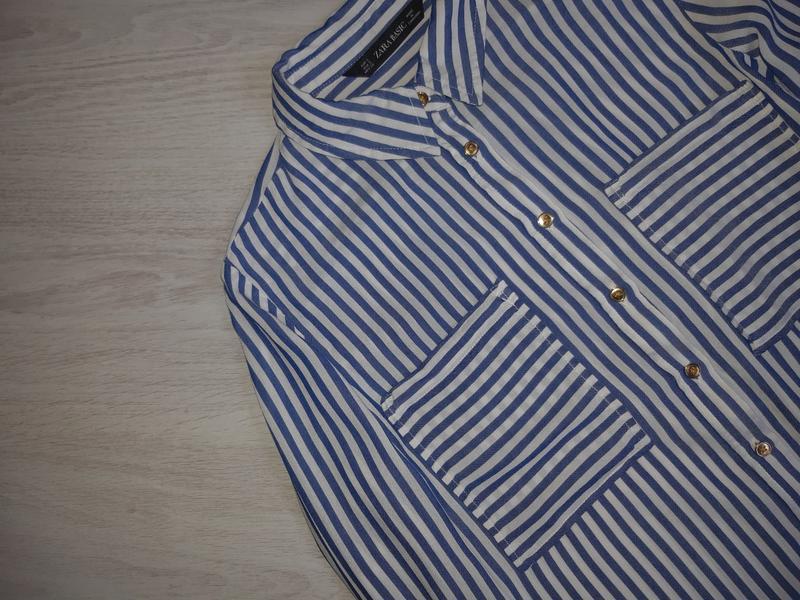 Рубашка zara basic оригинал - Фото 4