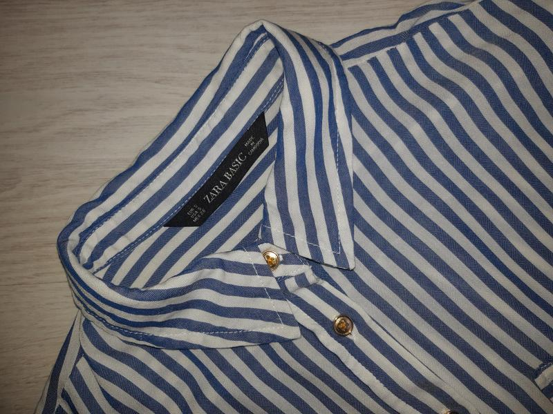 Рубашка zara basic оригинал - Фото 5