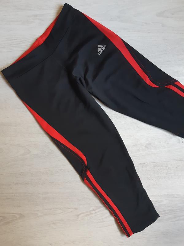 Спортивные лосины леггинсы тайтсы капри adidas clima lite