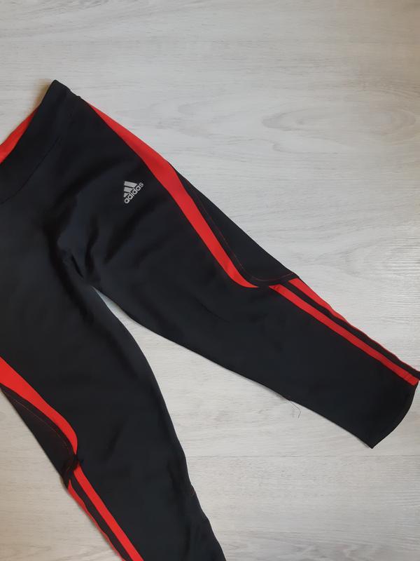 Спортивные лосины леггинсы тайтсы капри adidas clima lite - Фото 3
