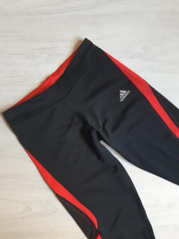 Спортивные лосины леггинсы тайтсы капри adidas clima lite - Фото 5