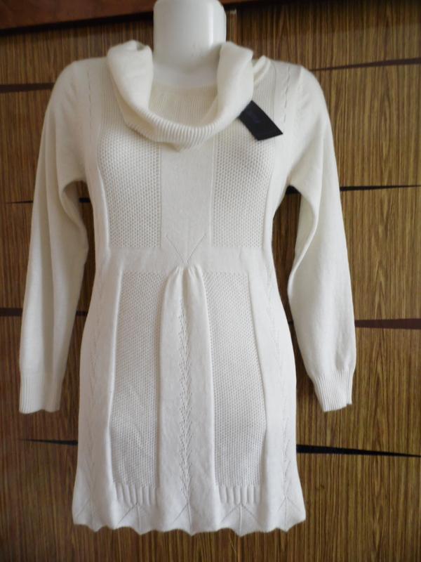 Туника тонкой ажурной вязки, шерсть, размер 46-48+ новая.
