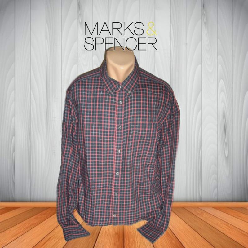 🍀🍀marks&spencer стильная мужская рубашка длинный рукав xl🍀🍀🍀