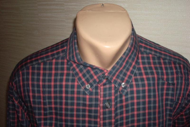 🍀🍀marks&spencer стильная мужская рубашка длинный рукав xl🍀🍀🍀 - Фото 3
