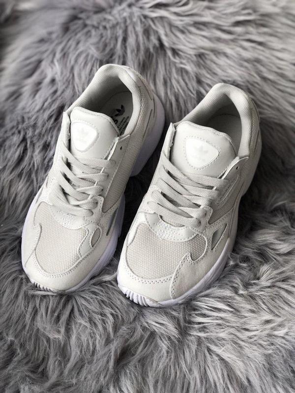 Женские кроссовки adidas falcon full white - Фото 5