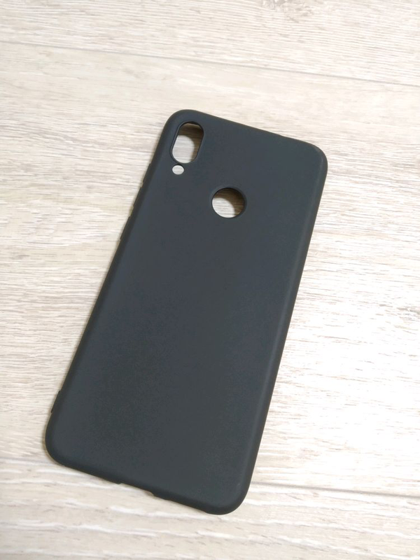 Xiaomi Redmi Note 7 чехол силиконовый черный