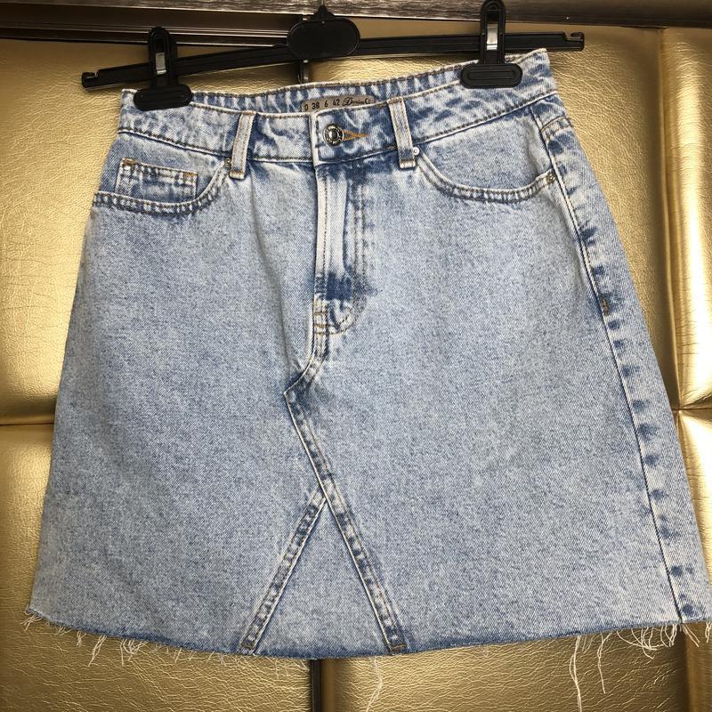 Юбка джинсовая с необработанным низом denim co