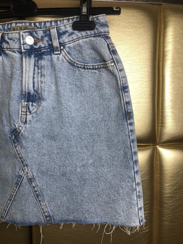 Юбка джинсовая с необработанным низом denim co - Фото 2