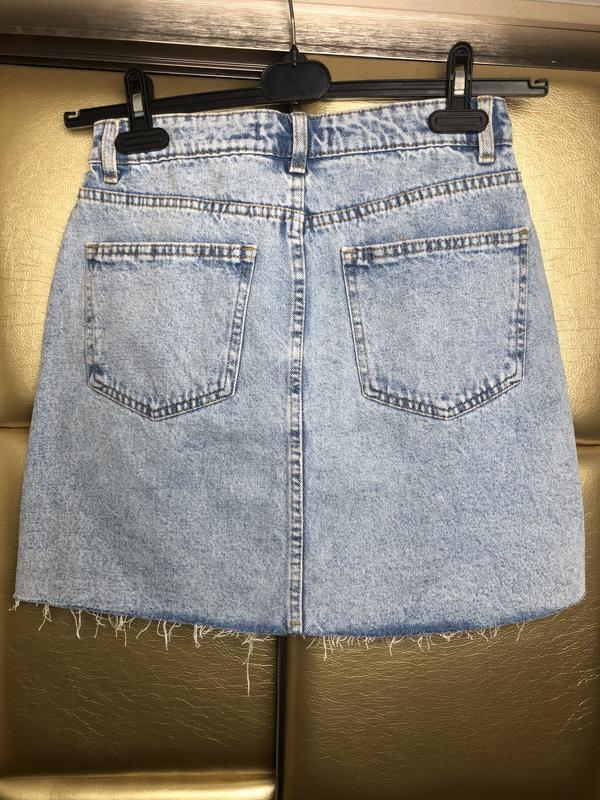 Юбка джинсовая с необработанным низом denim co - Фото 4