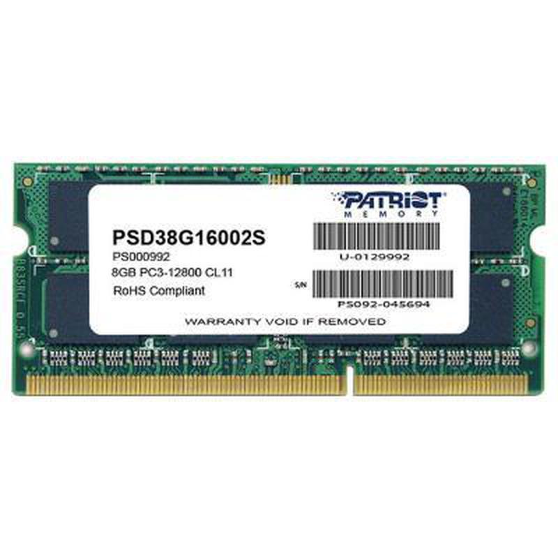 Модуль памяти для ноутбука SoDIMM DDR3 8GB 1600 MHz Patriot (P...