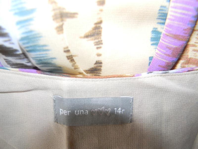 Красивое платье в пол с принтом per una - Фото 3