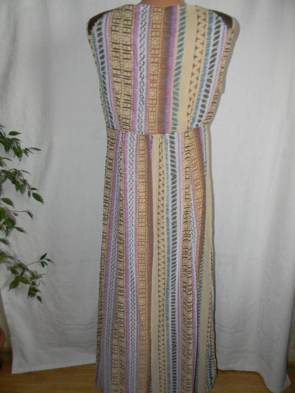 Красивое платье в пол с принтом per una - Фото 4