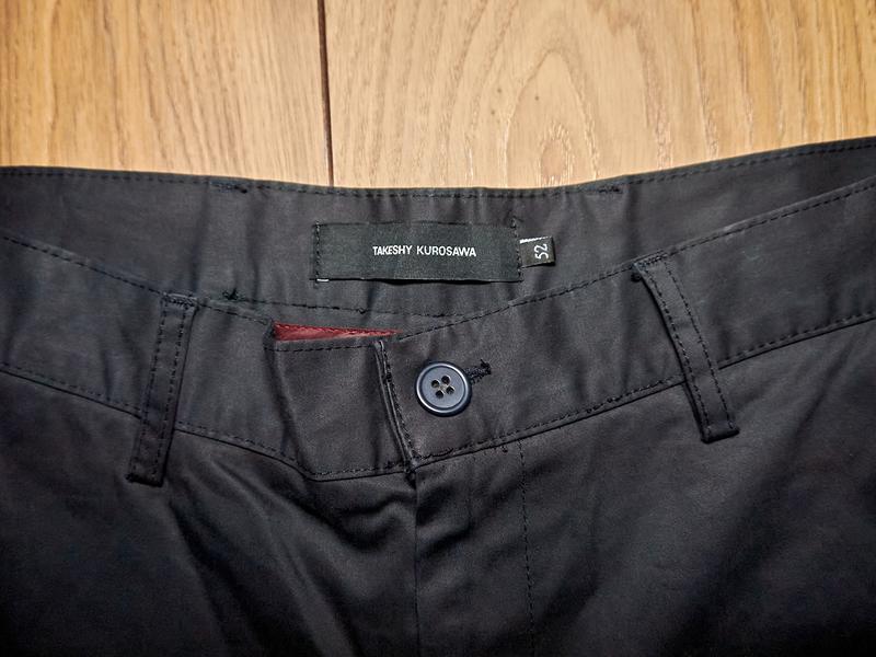 Брендові чоловічі штани чорного кольору від takeshy kurosawa - Фото 3