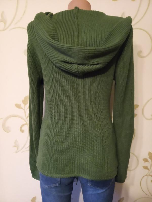 Clockhouse . стильный свитер джемпер пуловер с капюшоном и кар... - Фото 4