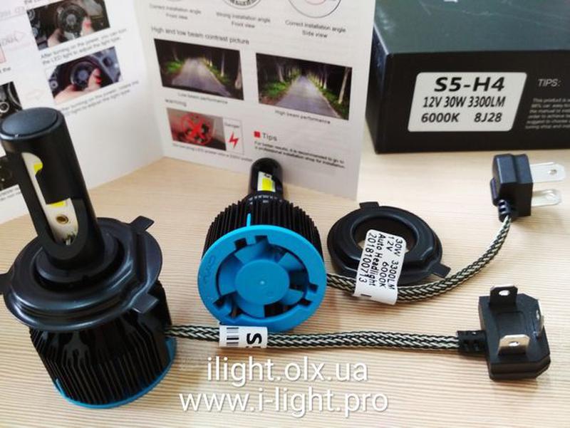 S5 H4 Светодиодные автомобильные LED автолампы H1 H7 лед ксенон - Фото 5