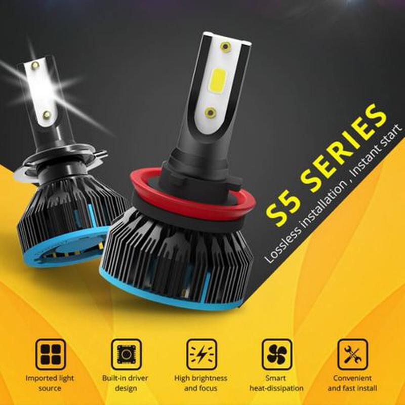 S5 H1 LED диодные автомобильные ЛЕД лампы H4 H7 ксенон лампочк...
