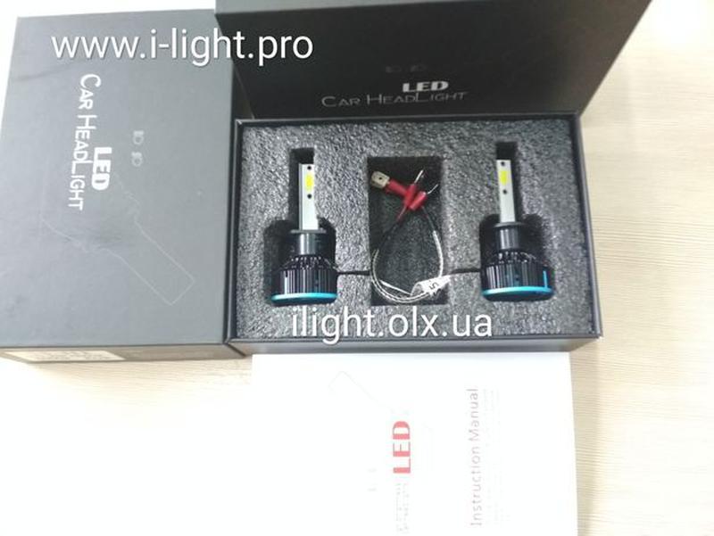 S5 H1 LED диодные автомобильные ЛЕД лампы H4 H7 ксенон лампочк... - Фото 3