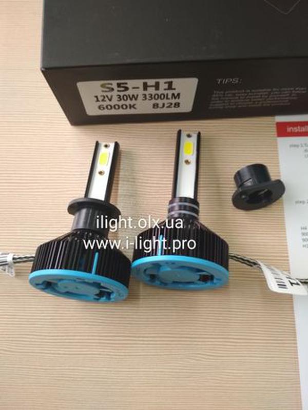 S5 H1 LED диодные автомобильные ЛЕД лампы H4 H7 ксенон лампочк... - Фото 4