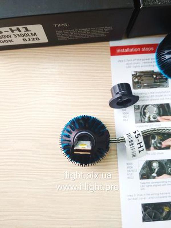 S5 H1 LED диодные автомобильные ЛЕД лампы H4 H7 ксенон лампочк... - Фото 5