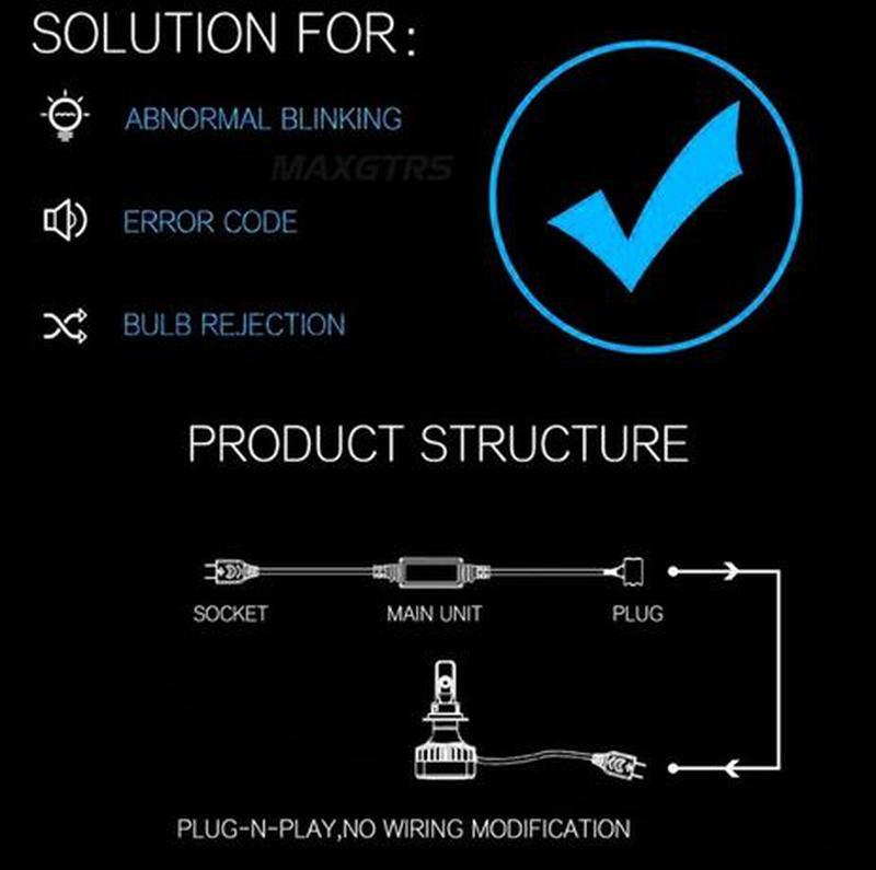 Электронные обманки для светодиодных LED ламп ксенона CANBUS л... - Фото 2