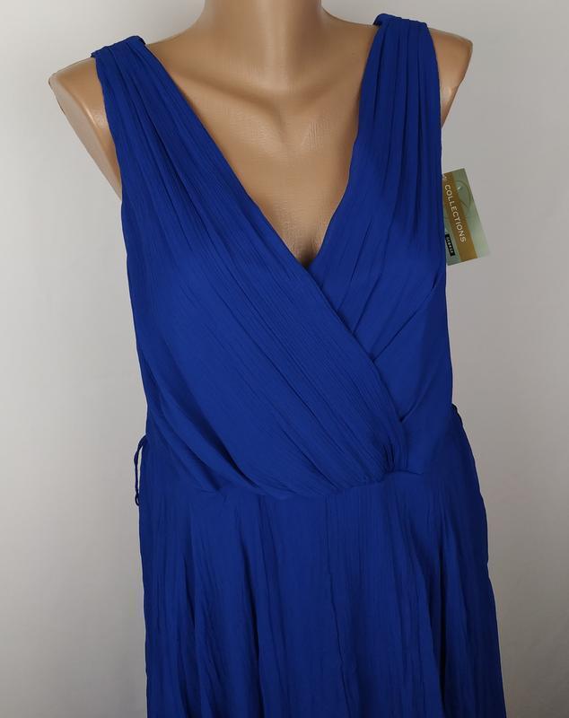 Платье новое синие стильное на подкладке george uk 14/42/l - Фото 2