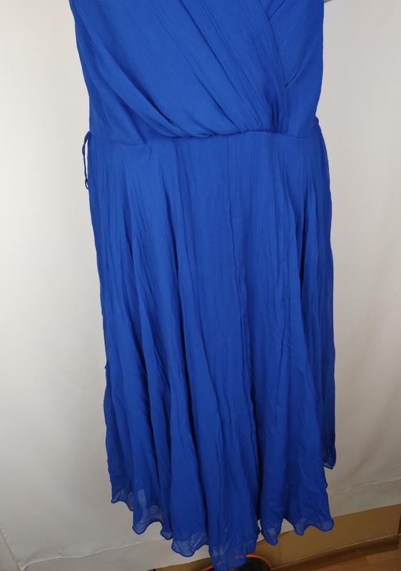 Платье новое синие стильное на подкладке george uk 14/42/l - Фото 3