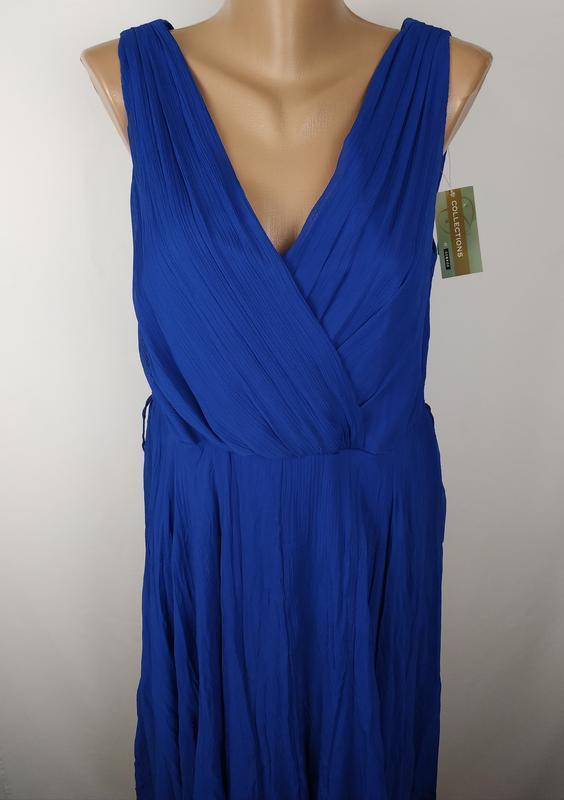 Платье новое синие стильное на подкладке george uk 14/42/l - Фото 4