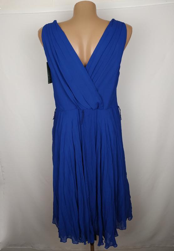 Платье новое синие стильное на подкладке george uk 14/42/l - Фото 5