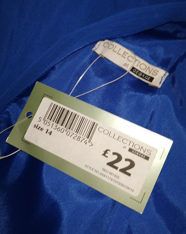 Платье новое синие стильное на подкладке george uk 14/42/l - Фото 6