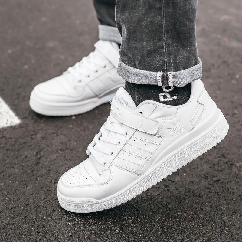 Кроссовки мужские  adidas forum all white