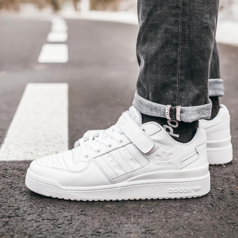 Кроссовки мужские  adidas forum all white - Фото 3
