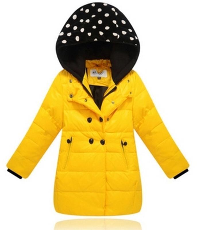 Пуховик желтый для девочки парка куртка детская 134 146