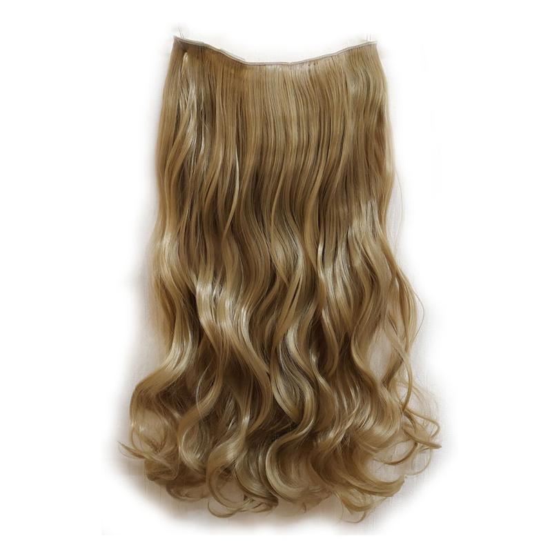 Трессы волосы на заколках затылочная прядь темный блонд 5клипс...