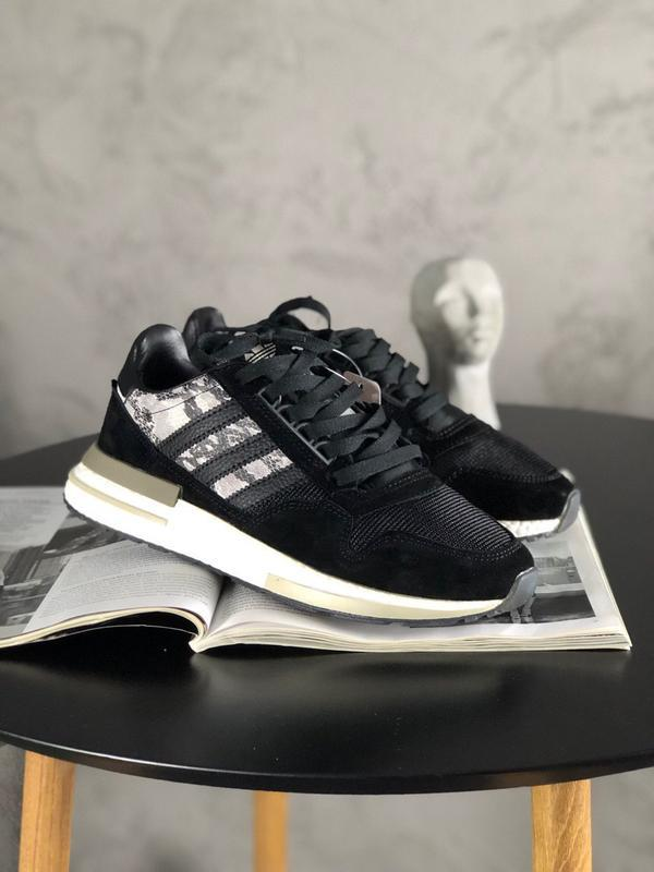 Adidas zx 500 black white and snakeskin шикарные мужские кросс... - Фото 2