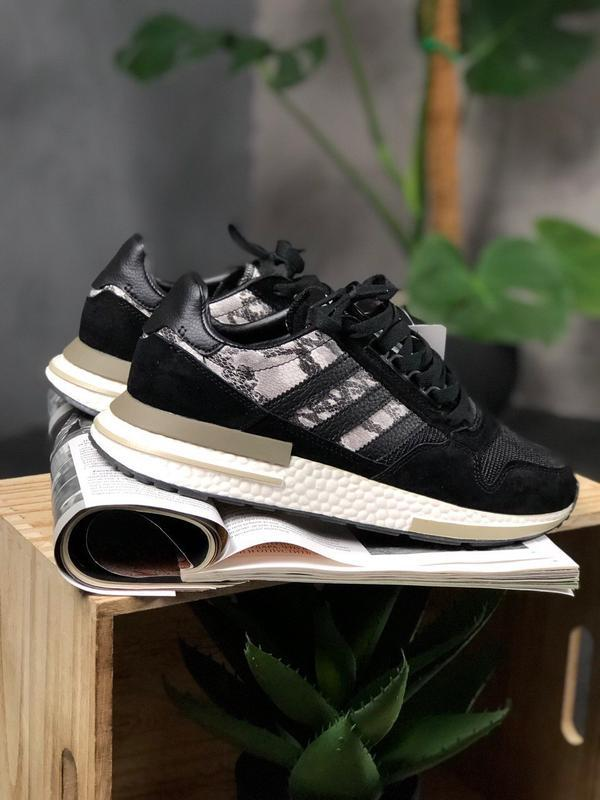 Adidas zx 500 black white and snakeskin шикарные мужские кросс... - Фото 5