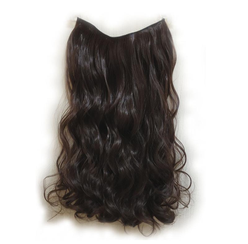Трессы волосы на заколках затылочная прядь темно-коричневые 5к...