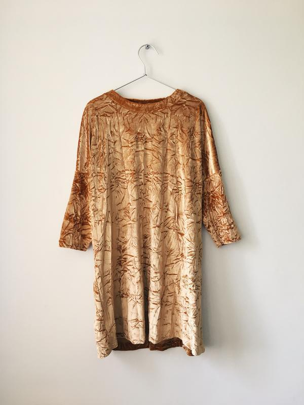 Платье бархатное с жемчужным блеском zara размер м - Фото 4